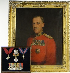 Military portrait and medals for sale Image