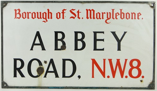 Abbey Road sign for sale Image