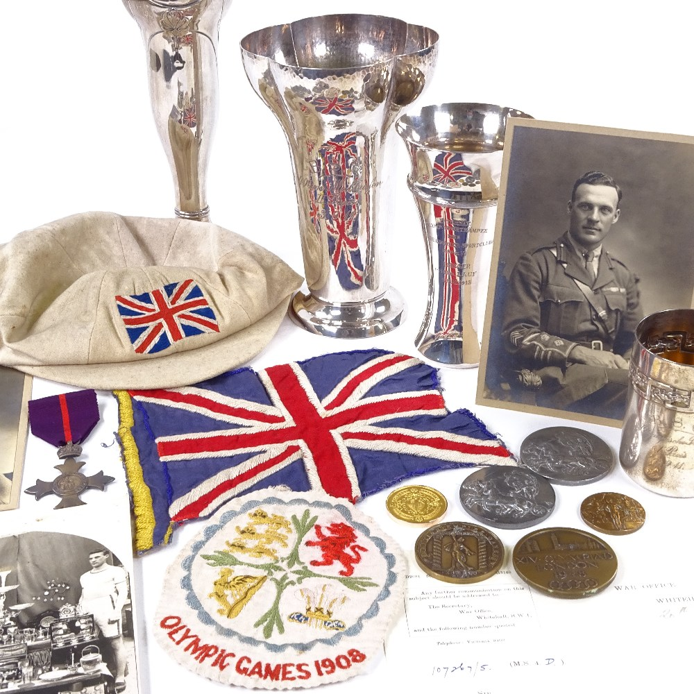 Olympic Athletics medals from over 100 years ago are to be sold at auction in Battle... Image